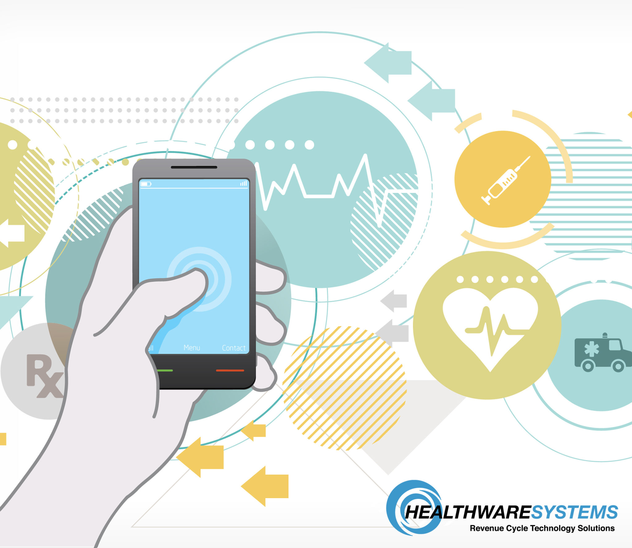 Improving Patient Engagement Beyond the Healthcare Facility: A patient holds a smartphone.