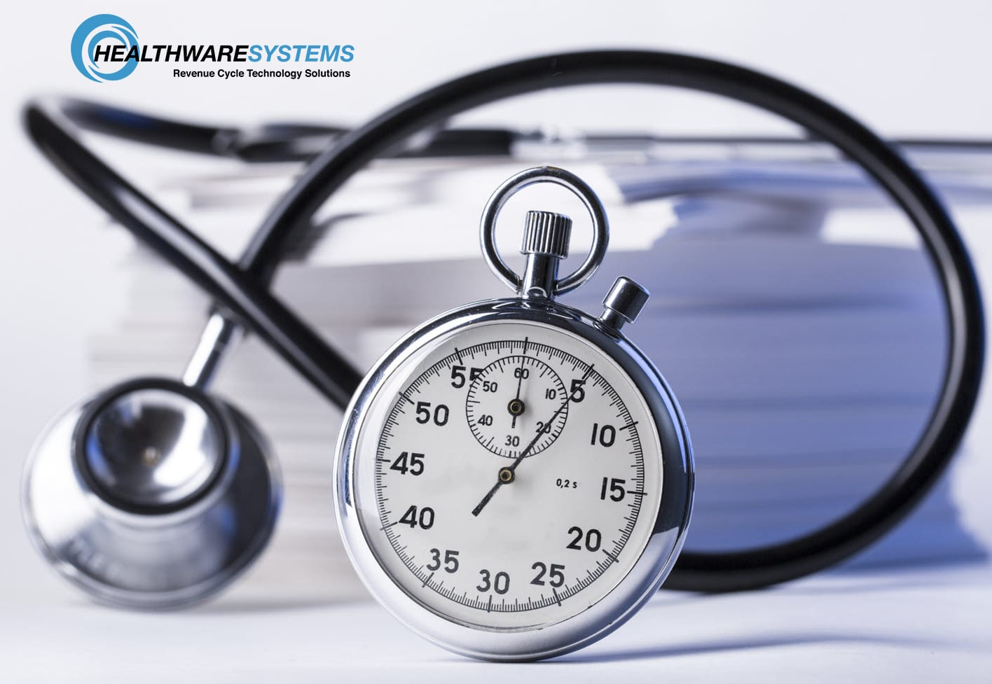 A clock and stethoscope representing the blog, 3 Simple Time-Savers for Physicians.