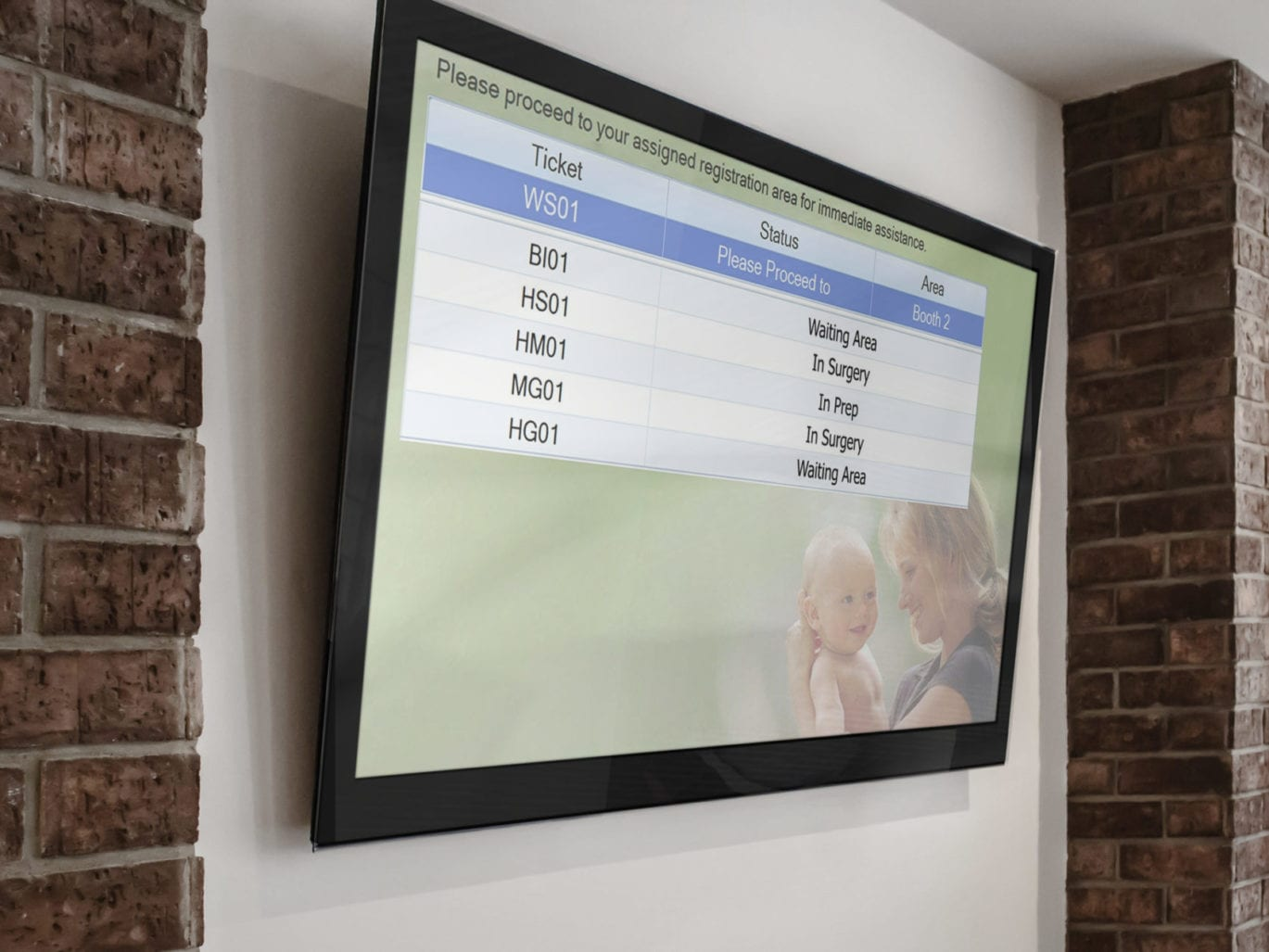 A patient notification board is a great wayfinding solution.