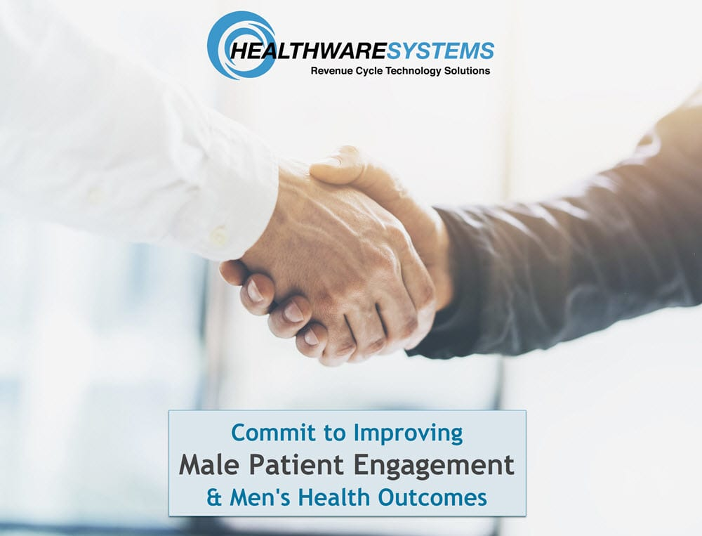Male patient engagement: A doctor and male patient shake hands.