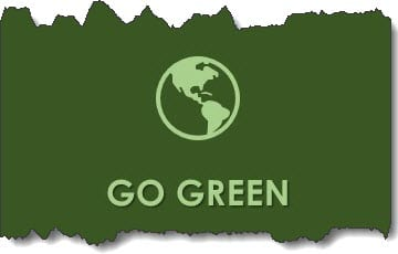 GO GREEN to reduce hospital waste.