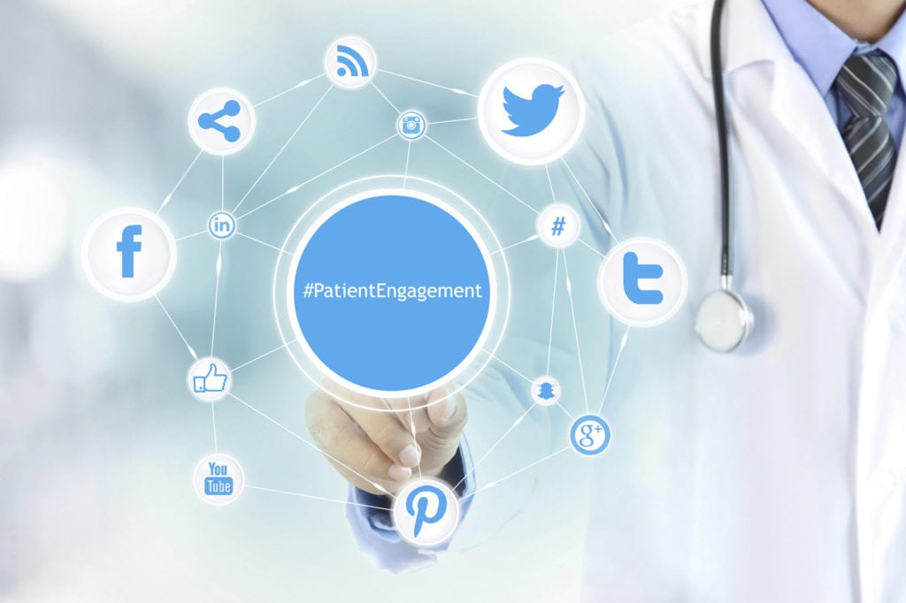Social media icons appear: These tips on how to use social media in healthcare can help you improve patient engagement.