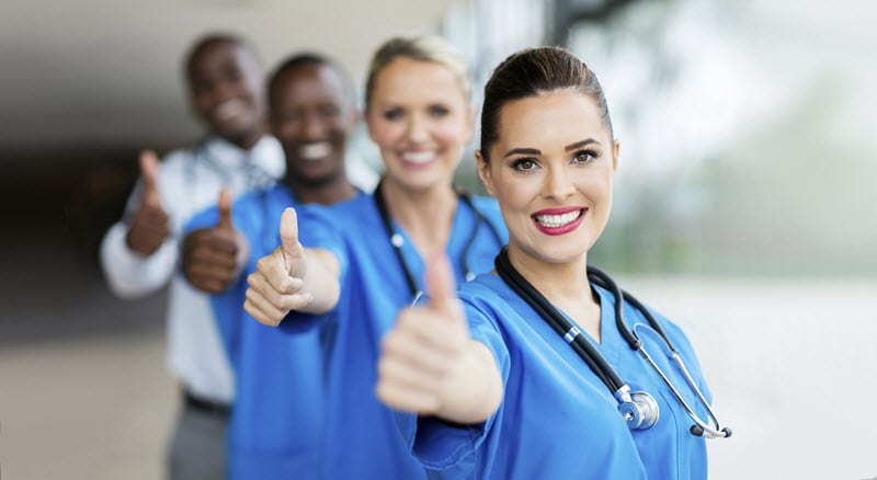 Physicians hold a thumbs up sign for solutions that can streamline prior authorizations.