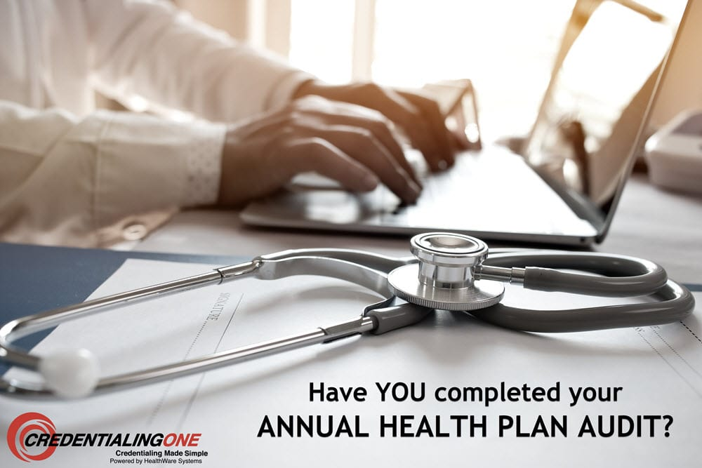 An annual health plan audit is performed.